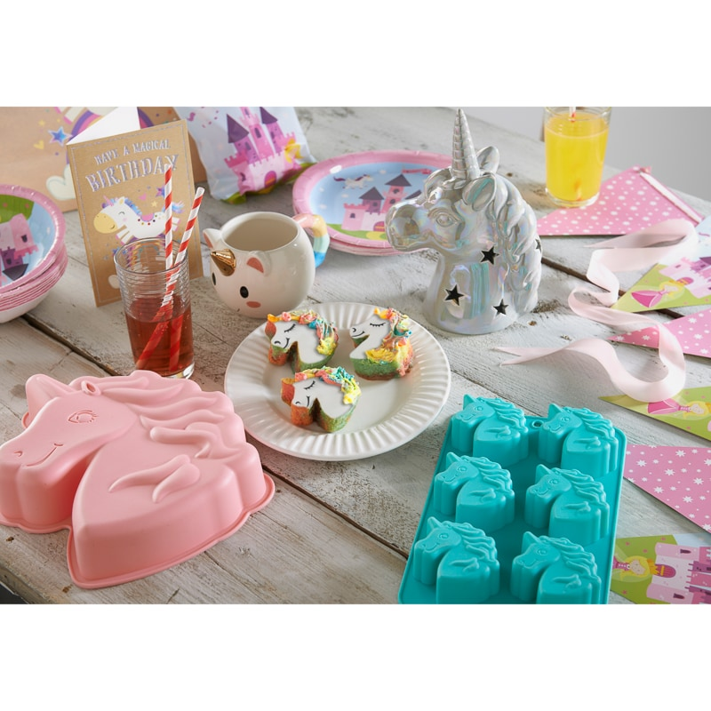Large Silicone Unicorn Cake Mould - Aqua