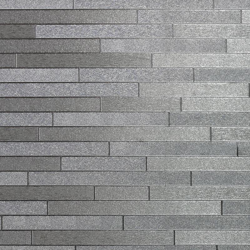 Foil Slate Wallpaper Silver Diy B Amp M
