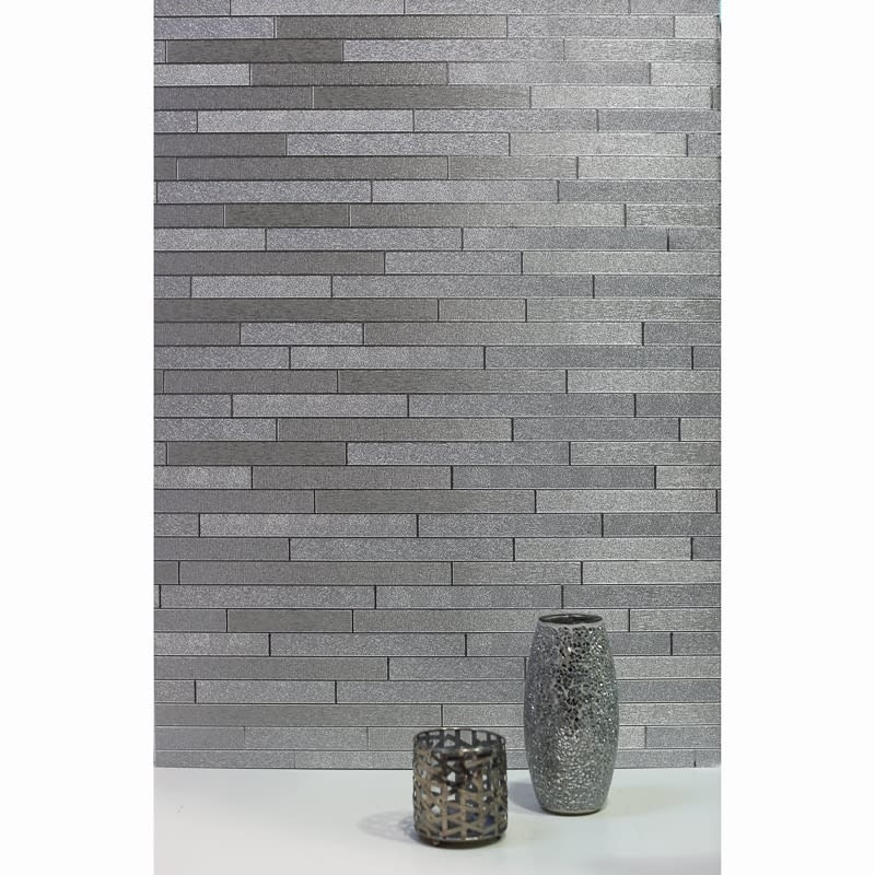 Toys That Move : Foil slate wallpaper silver diy b m