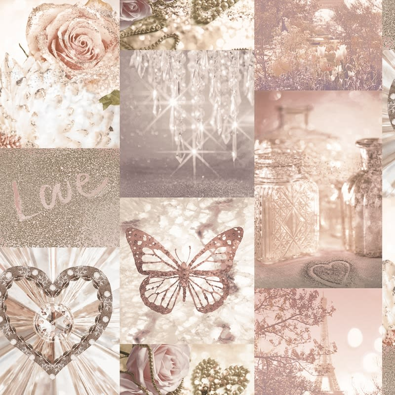 Love Paris Wallpaper Blush Diy B Amp M