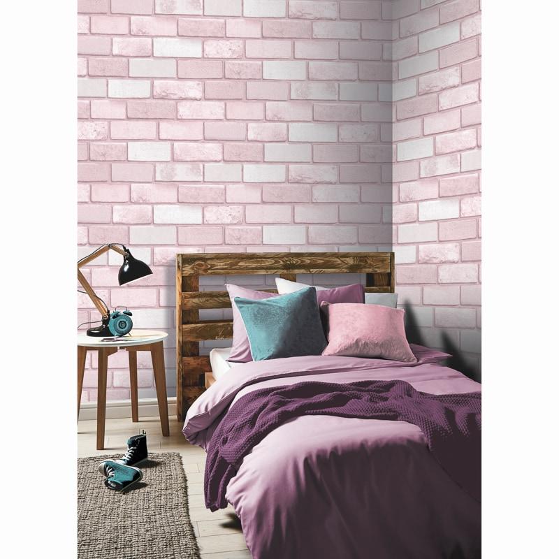 Diamond Brick Wallpaper - Pink