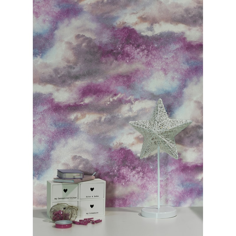 Diamond Galaxy Wallpaper Blush Diy B Amp M
