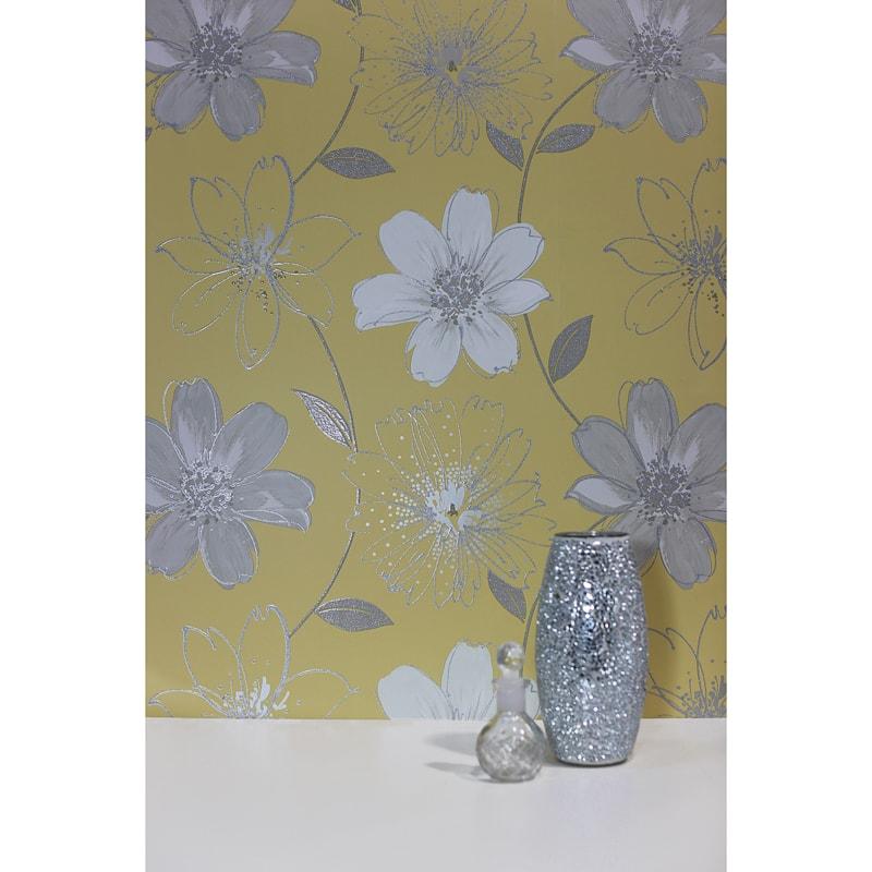 Samba Floral Wallpaper - Yellow