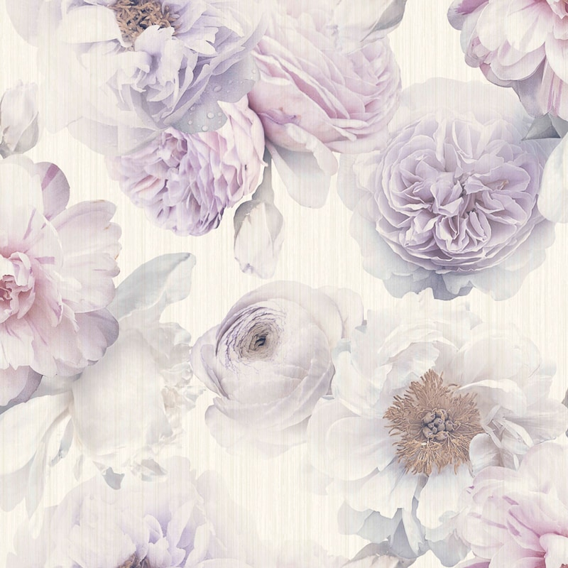 Diamond Bloom Floral Wallpaper - Lavender | DIY - B&M - photo#23