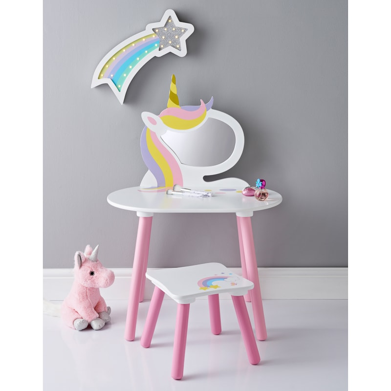 Unicorn Vanity Set With Stool Amp Mirror Kids Furniture B Amp M