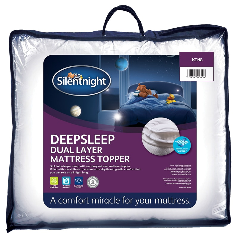 Silentnight Dual Layer Mattress Topper King Bedding Bm