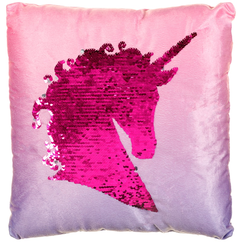 Reversible Sequin Unicorn Cushion Soft Furnishings B Amp M