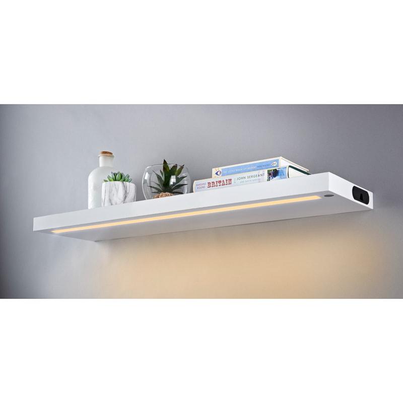 alaska led light shelf white shelving b m rh bmstores co uk