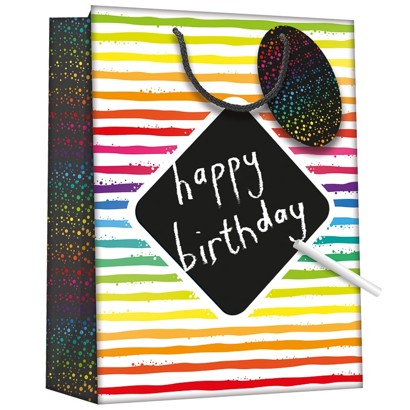 Chalkboard Gift Bag - Stripes