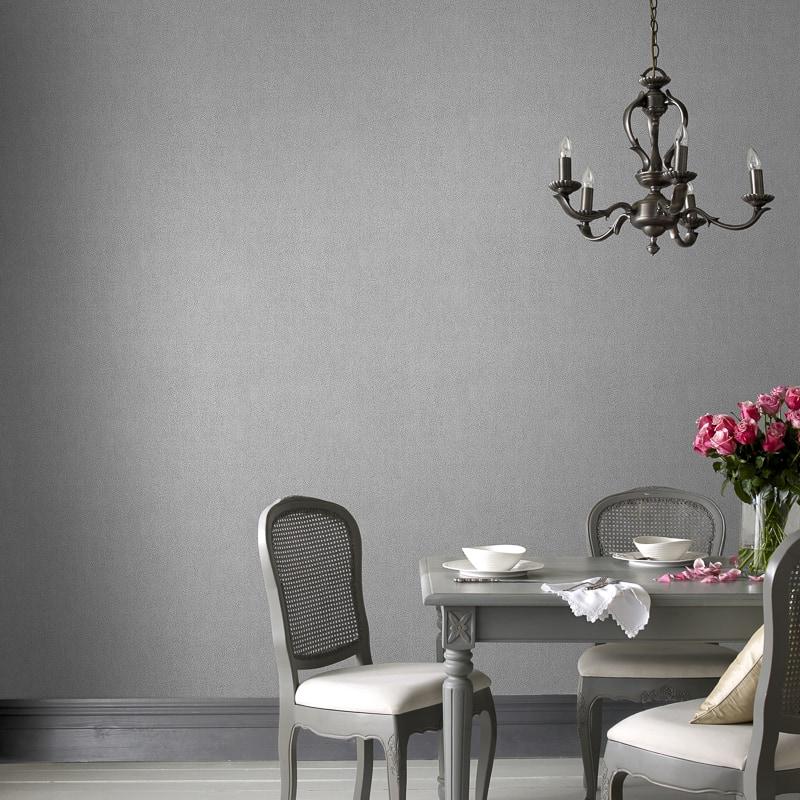 Silver textured wallpaper metallic muriva kate texture for Cheap plain wallpaper