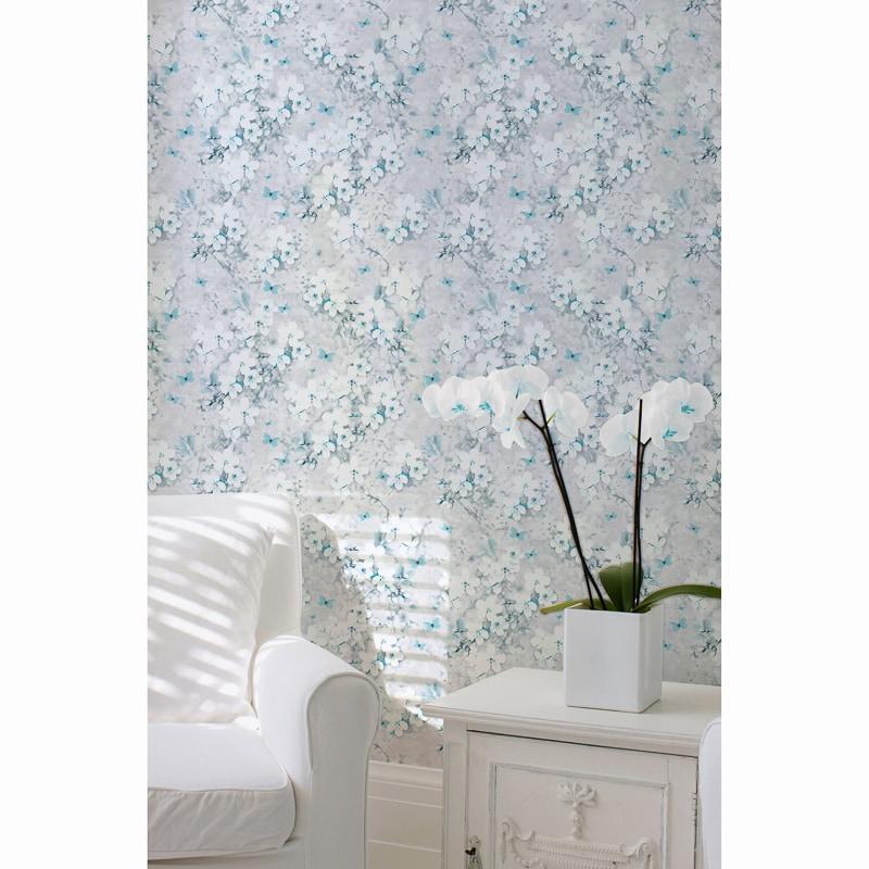 Lipsy Spring Blossom Wallpaper - Teal