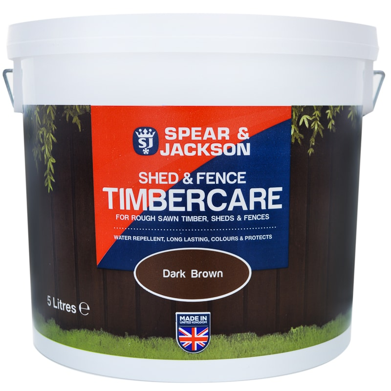 Spear Amp Jackson Shed Amp Fence Timbercare 5l Dark Brown B Amp M