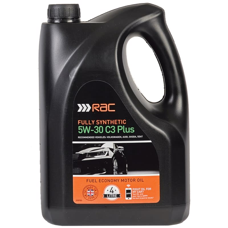 Sae 30 Oil >> RAC 5W-30 C3 Plus Fully Synthetic Oil 4L | Car Care - B&M