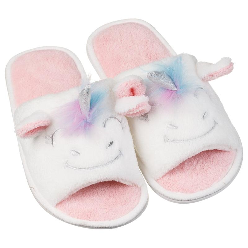 ladies open toe unicorn slippers ladies footwear b m. Black Bedroom Furniture Sets. Home Design Ideas