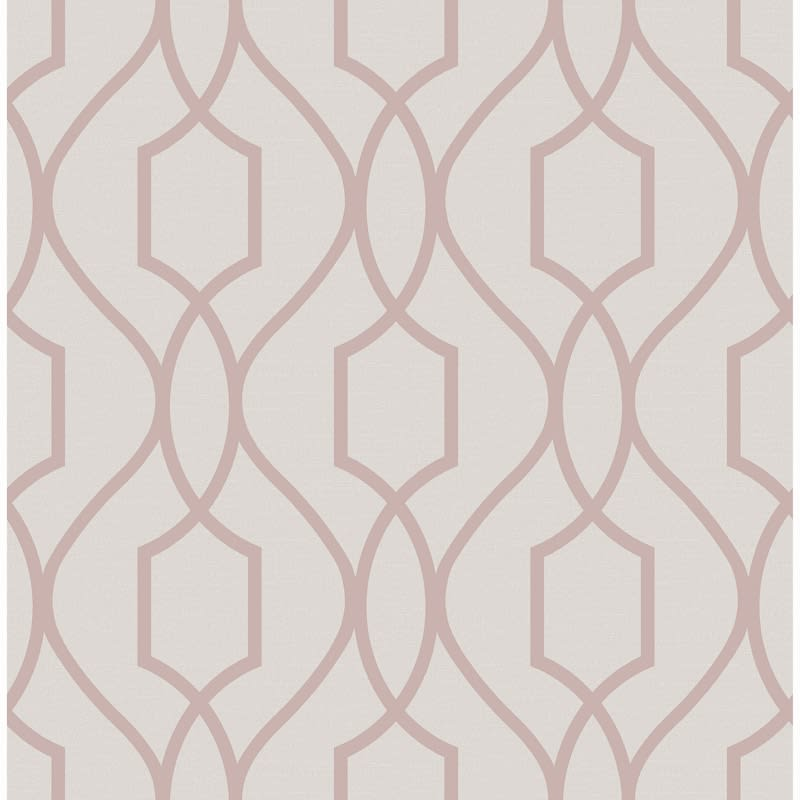 Apex Trellis Wallpaper Rose Gold Diy B Amp M