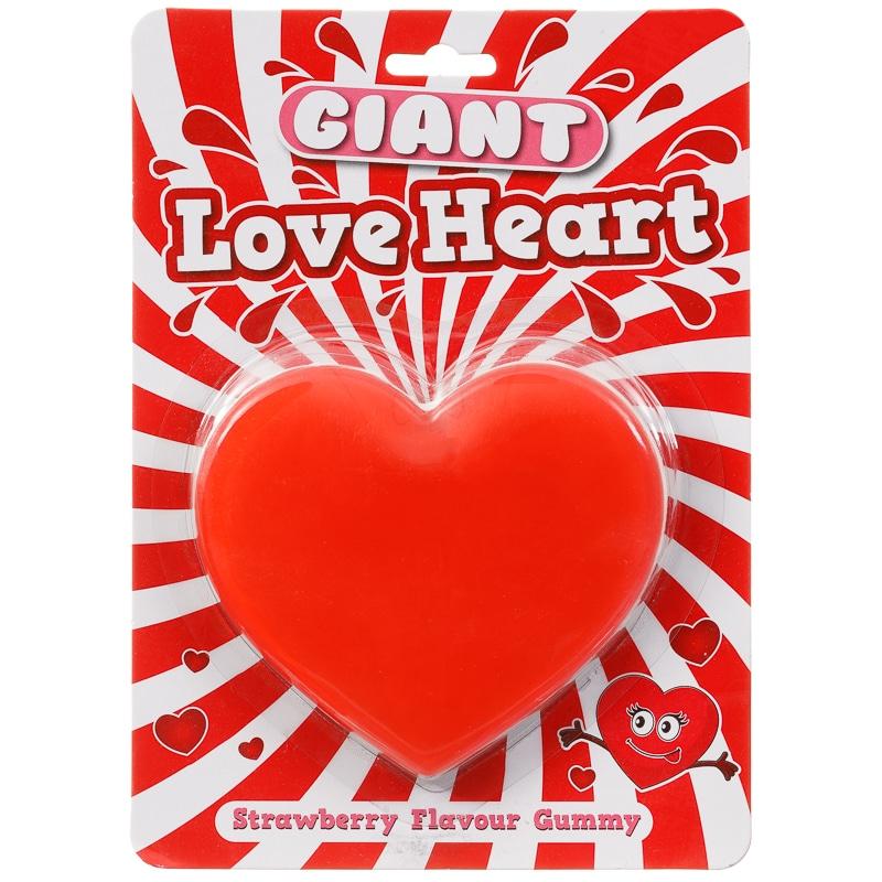 Giant Gummy Love Heart 170g Sweets B Amp M