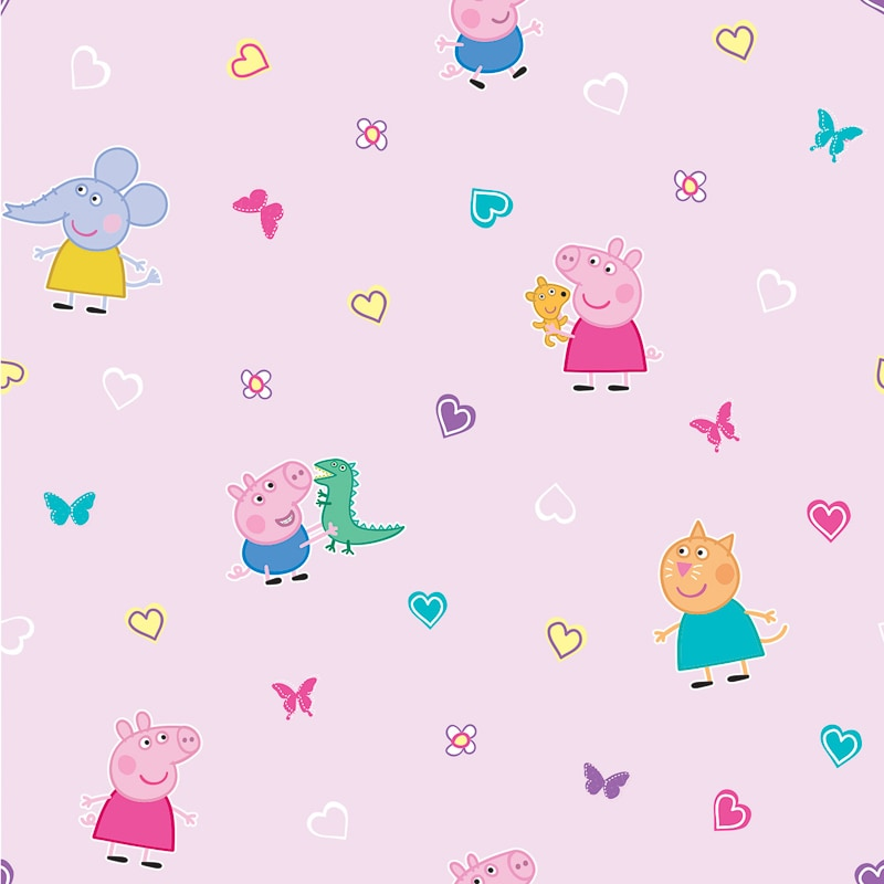 Peppa Pig Wallpaper Pink Diy B Amp M