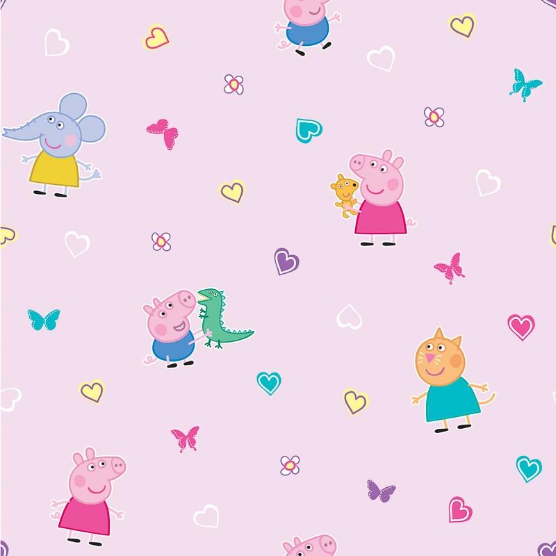 Peppa Pig Wallpaper Pink Diy B Amp M
