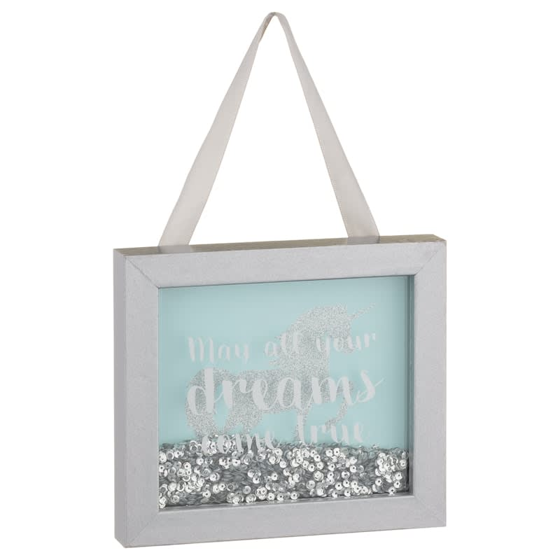 Unicorn Shaker Plaque - May All Your Dreams Come True