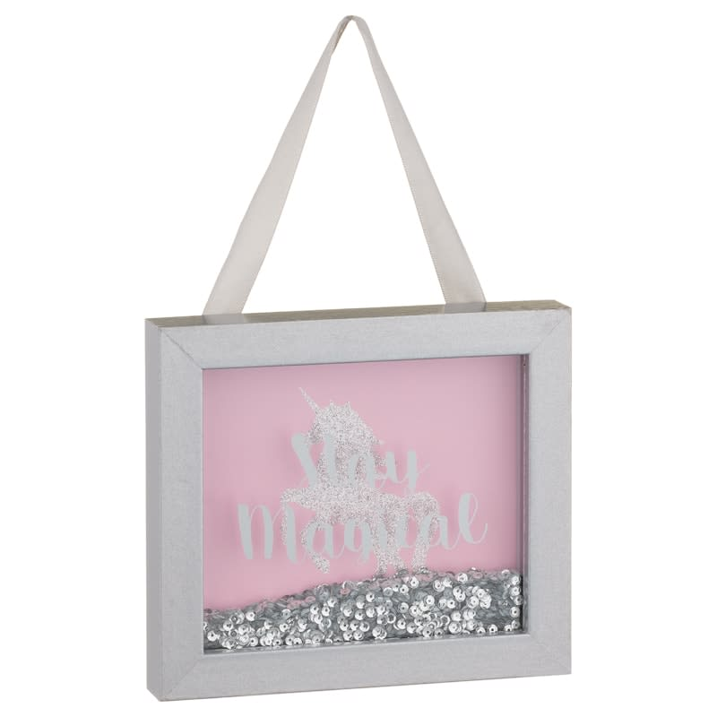 Unicorn Shaker Plaque - Stay Magical