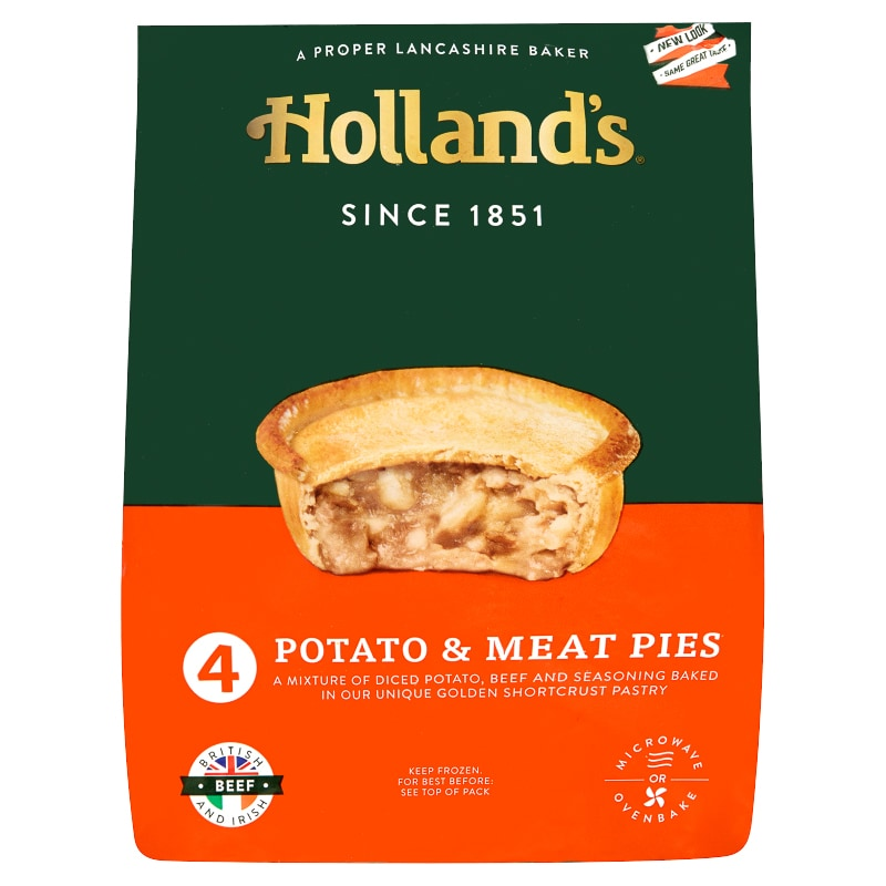 Holland S 4 Meat Amp Potato Pies Frozen Pies B Amp M