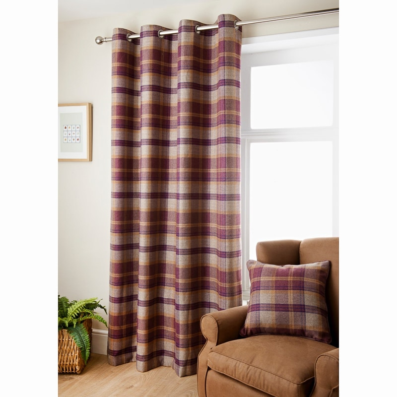 Oakland Check Curtain 90 X 90 Quot Curtains B Amp M