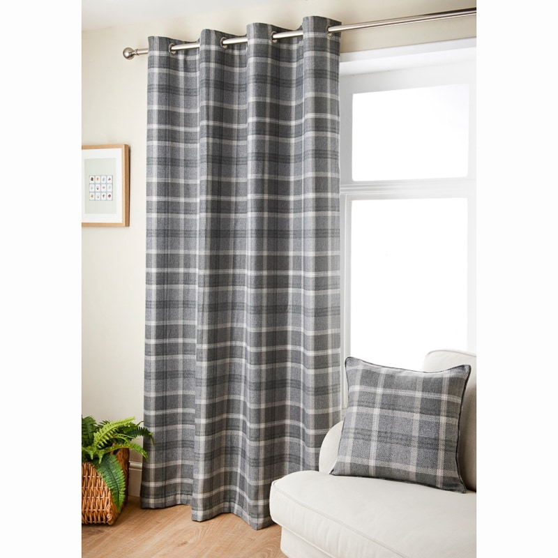 Oakland Check Curtain 46 X 72 Quot Curtains B Amp M