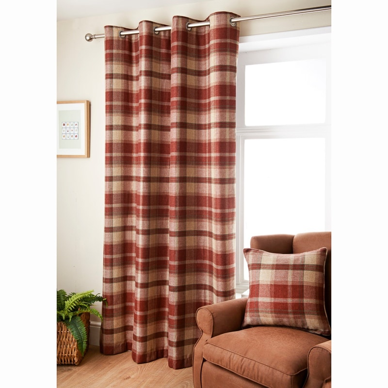 oakland check curtain 46 x 72 curtains b m. Black Bedroom Furniture Sets. Home Design Ideas