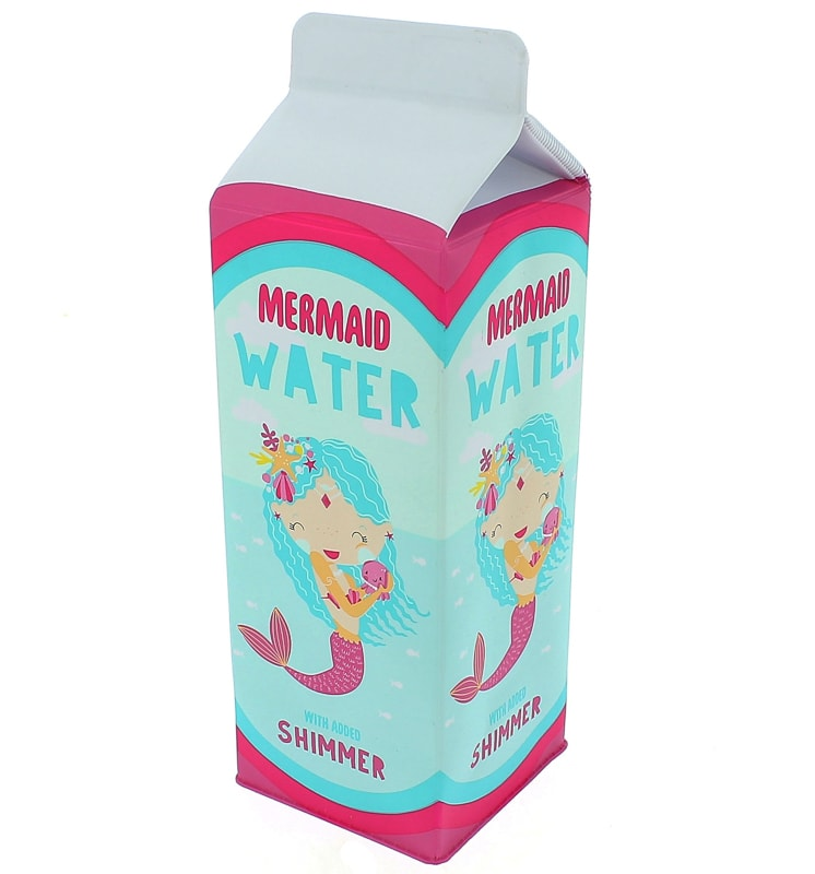 Milk Carton Pencil Case - Mermaid Water