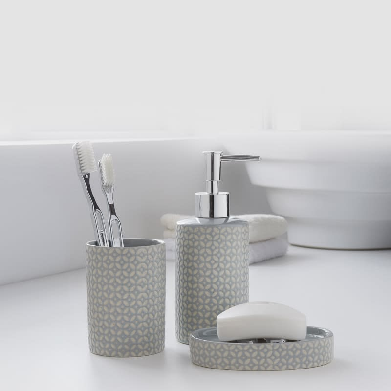 Super Moroccan Bathroom Set 3Pc Grey Download Free Architecture Designs Scobabritishbridgeorg