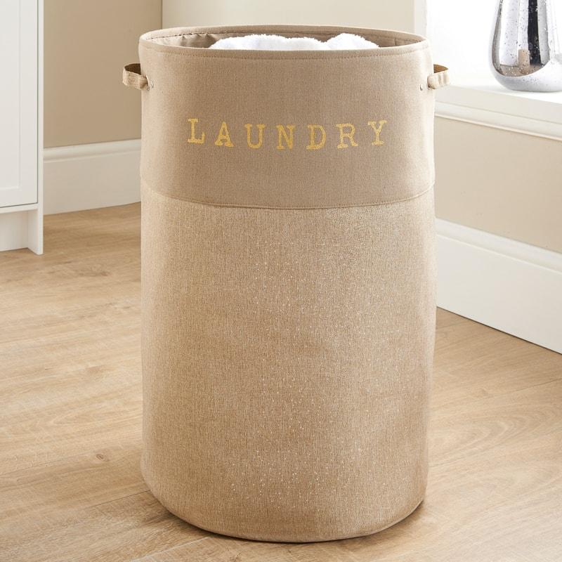 Large Foldable Laundry Hamper Natural Laundry B Amp M