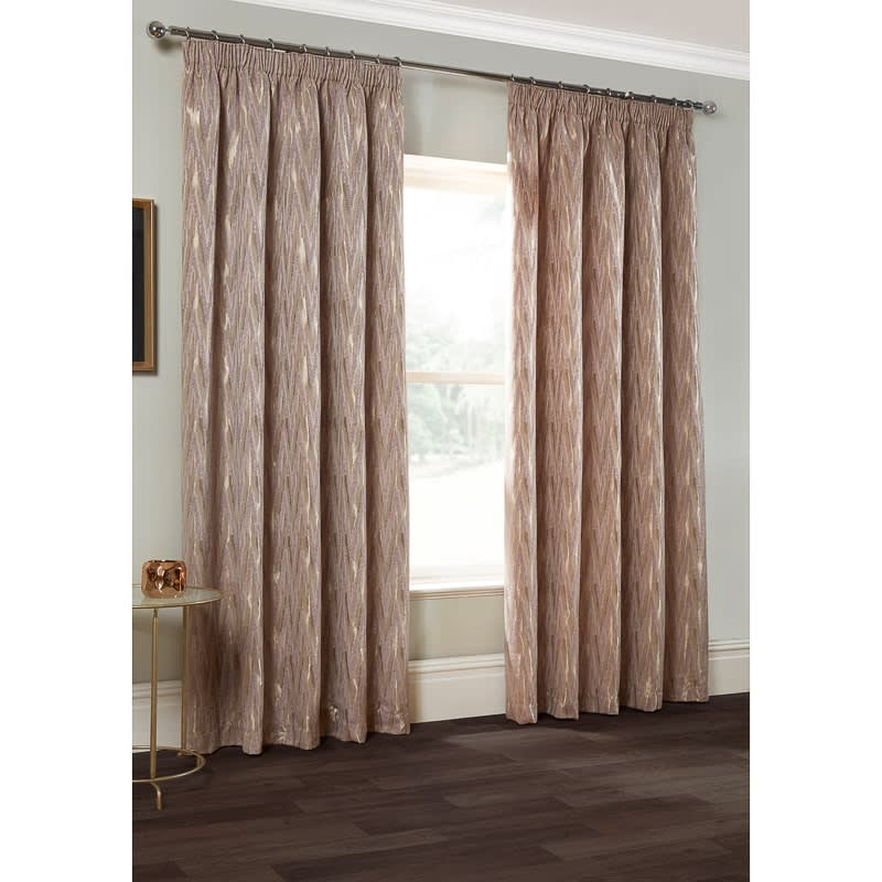 Roma Chevron Chenille Jacquard Curtain 66 X 72 Quot Curtains