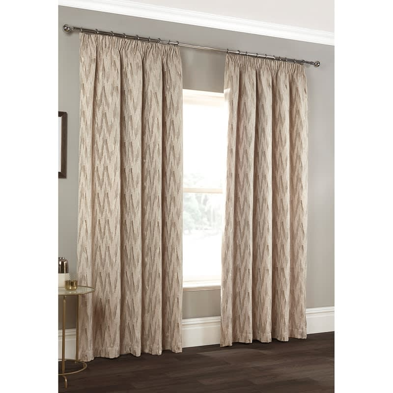 Roma Chevron Chenille Jacquard Curtain 66 X 72 Quot Curtains