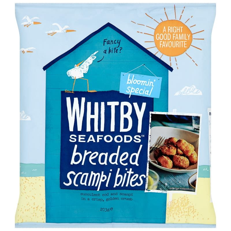 Whitby Seafoods Breaded Scampi Bites 203g Groceries
