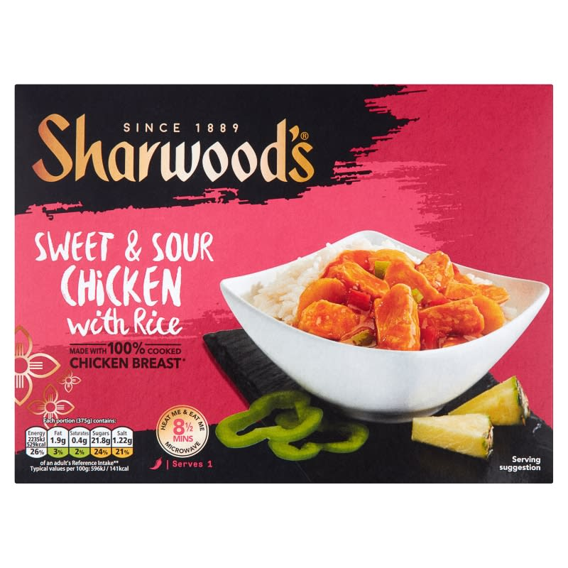Sharwood S Sweet Amp Sour Chicken 375g Frozen Ready Meals