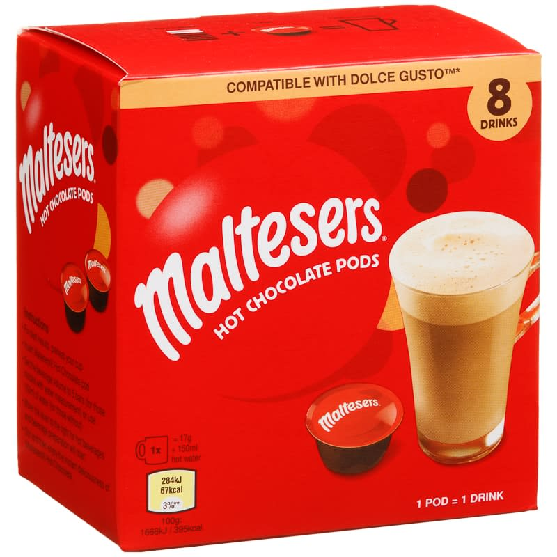 Maltesers Hot Chocolate Pods 8pk Hot Drinks B Amp M