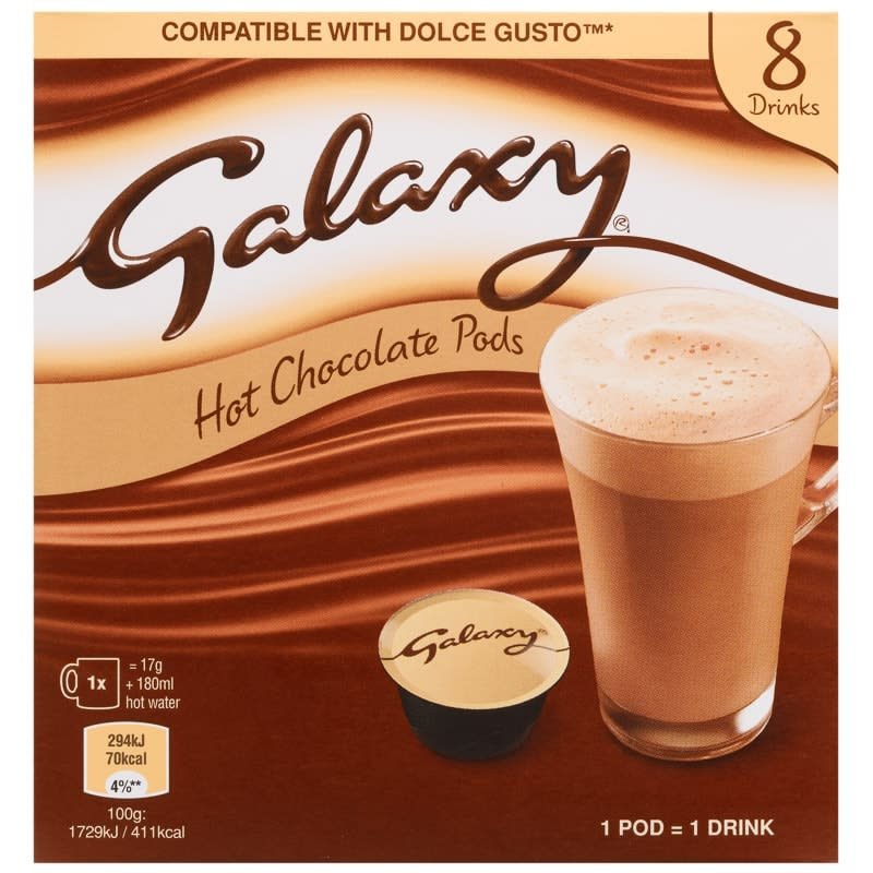 Galaxy Hot Chocolate Pods 8pk Hot Drinks B Amp M