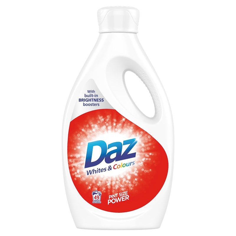 Daz Laundry Liquid Whites & Colours 1.7L