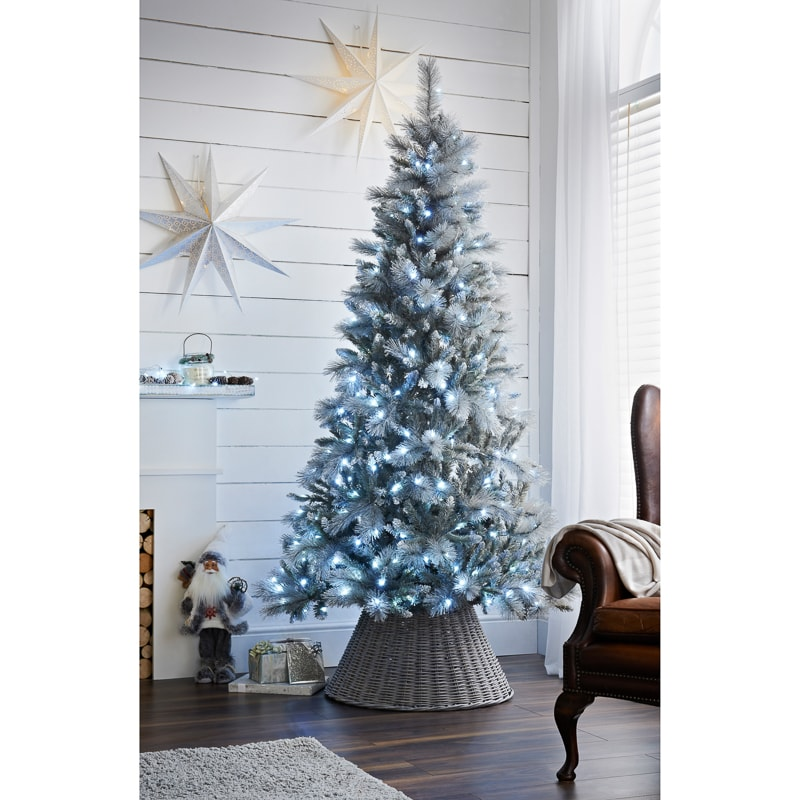 Where To Buy A Pre Lit Christmas Tree: Pre-Lit Montana Silver Christmas Tree 7ft
