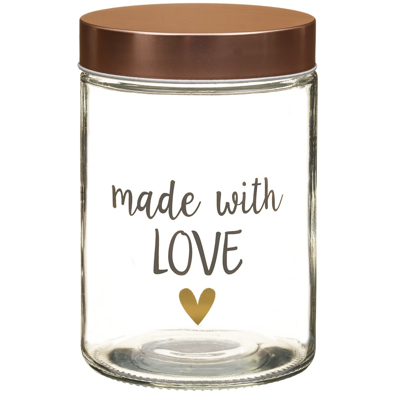 Glass Storage Jar Amp Copper Lid Made With Love Kitchen