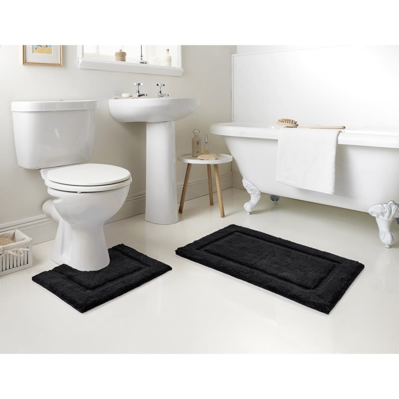 Signature Bath Mat Set 2pc - Black