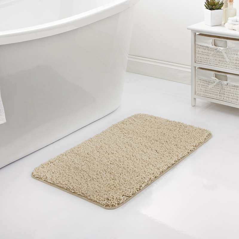 Shaggy Bath Mat - Natural