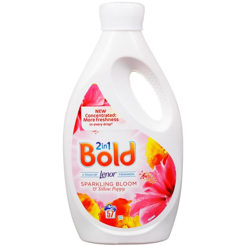 Bold 2 In 1 Liquid Detergent 57 Washes Sparkling Bloom B Amp M