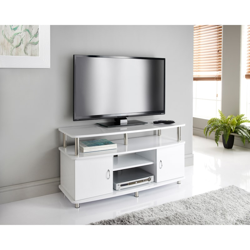 Tv Tables Menard High Gloss Tv Unit: Television Stands - B&M