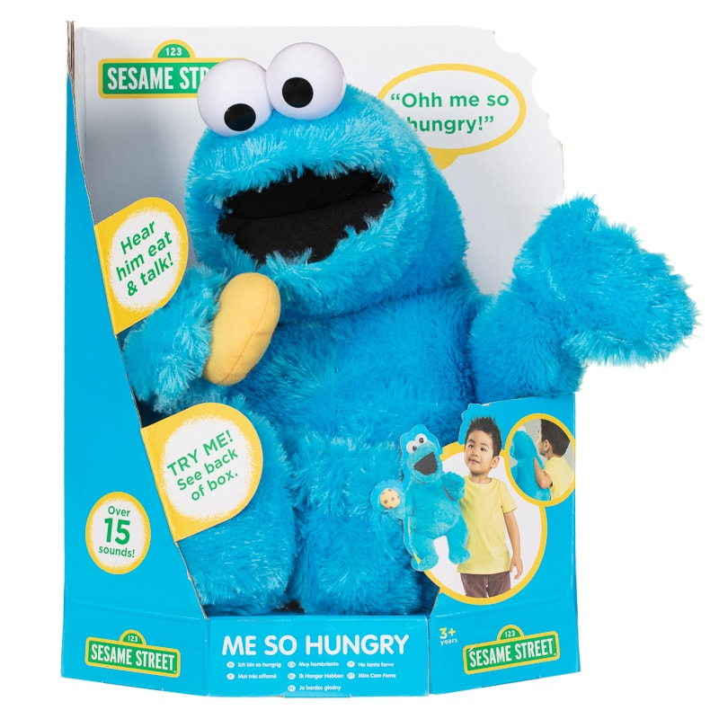 Sesame Street Quot Me So Hungry Quot Cookie Monster Soft Toys B Amp M