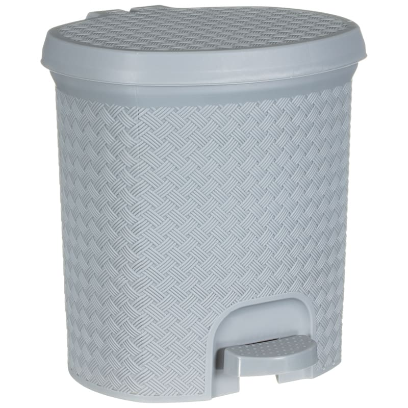 3dc71847ce60 338195-knit-effect-pedal-bin-grey-2. click on image to enlarge
