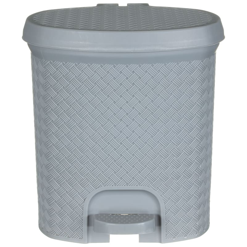 0a0b32fa5fbb 338195-knit-effect-pedal-bin-grey · click on image to enlarge