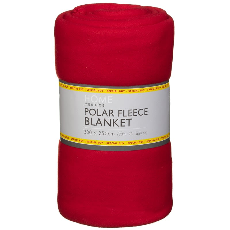 Polar Fleece Blanket 200 X 250cm Red Throws B Amp M