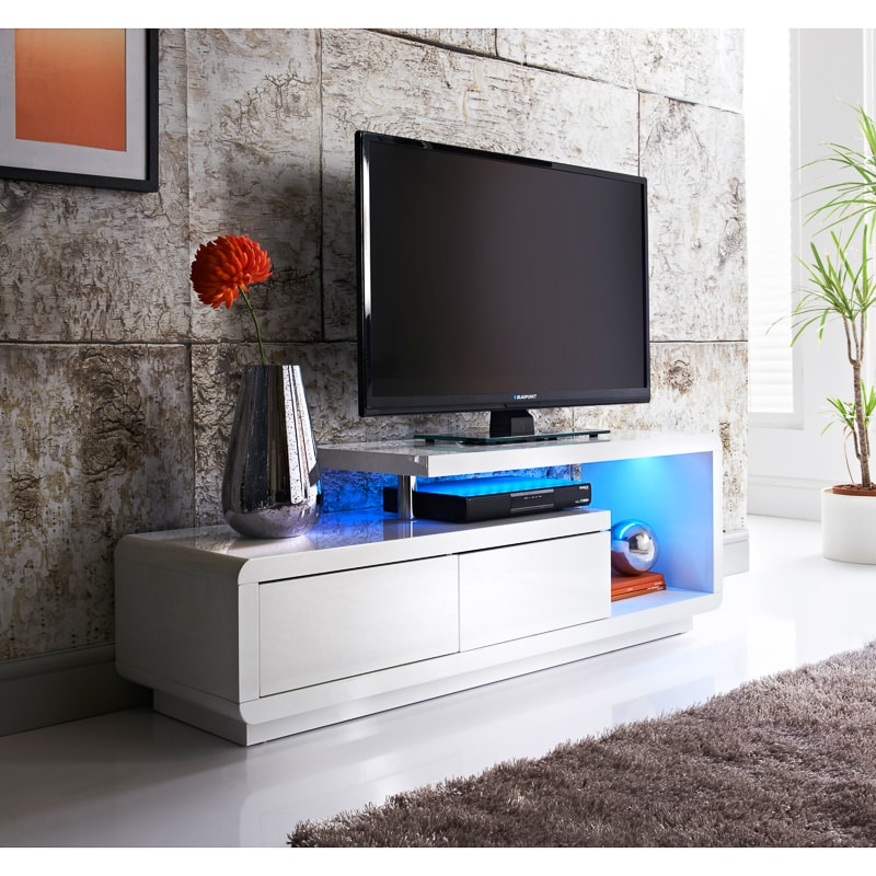 Aurora Colour Changing Led Media Unit Furniture B Amp M