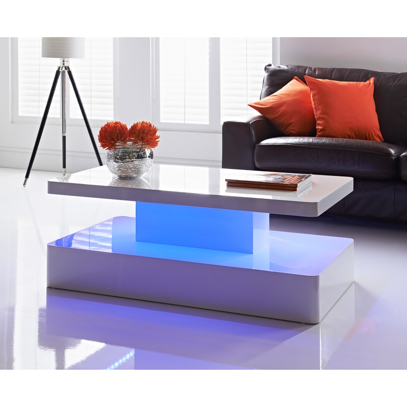 Aurora LED Colour-Changing Coffee Table